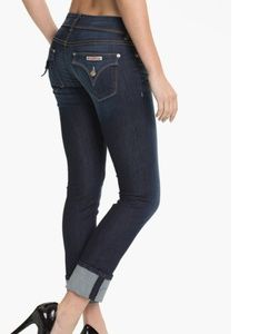 Hudson Ginny Crop Straight With Cuff Jeans